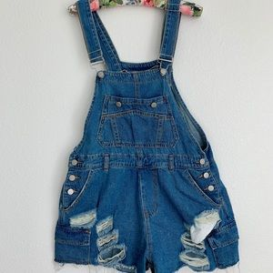 Other - Distressed Denim Overalls - NWOT
